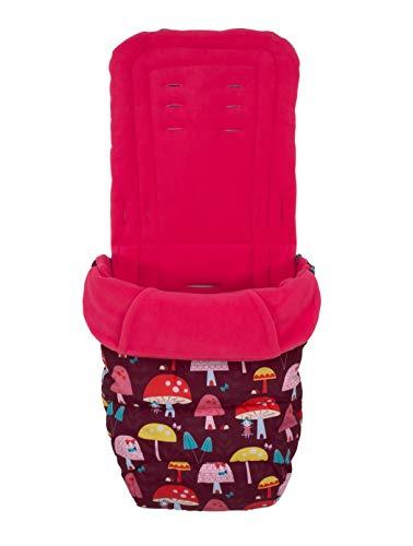 Cosatto Saco universal – Cosy Toes, para todas las estaciones, acolchado de lujo para cochecito, lavable, Mushroom Magic