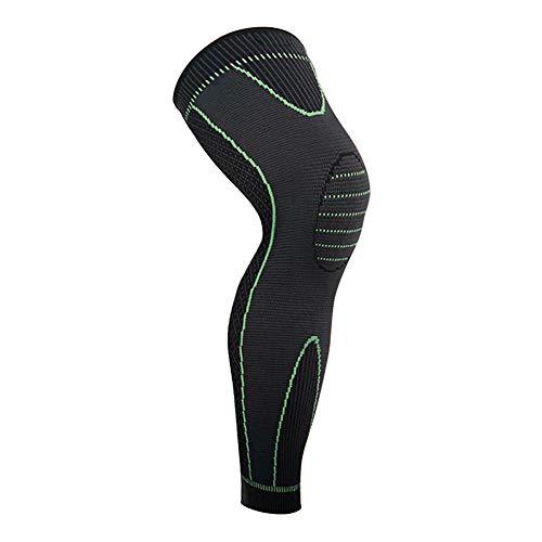 Vitoki 1 Stück Sport Lange Knieschoner Kompression Rutschfrei Kniebandage Knieschutz Damen Herren Knieorthese Knie Leg Sleeve S