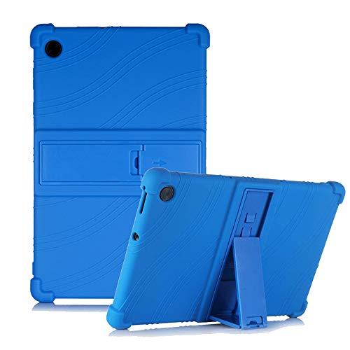 YSMILE Case for Lenovo Tab M10 Plus 10.3 Inch, Silicone Cover with Kickstand Adjustment Kid Friendly Shock Proof Protective Case for Lenovo Tab M10 Plus 10.3 Inch TB-X606F TB-X606X, Dark Blue