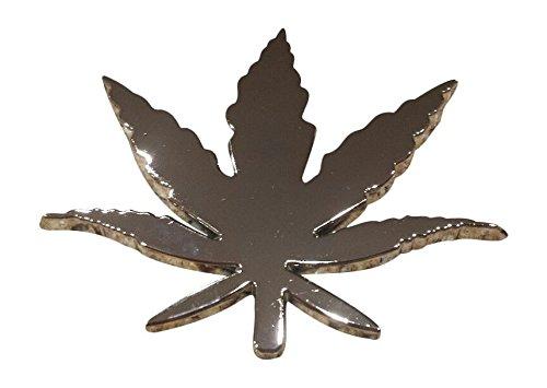 45MM BS3501 OEB Solid Brass Hemp Weed Leaf Marijuana Buckle 1 3//4
