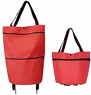 Shopping bag with wheels, Red