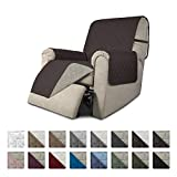 Easy-Going Recliner Sofa Slipcover Reversible Sofa Cover Furniture Protector Couch Shield Water Resistant Elastic Straps PetsKidsChildrenDogCat(Recliner,Chocolate/Beige)