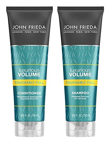 John Frieda Luxurious Volume Touchably Full, DUO set Shampoo + Conditioner, 8.45 Ounce, 1 each