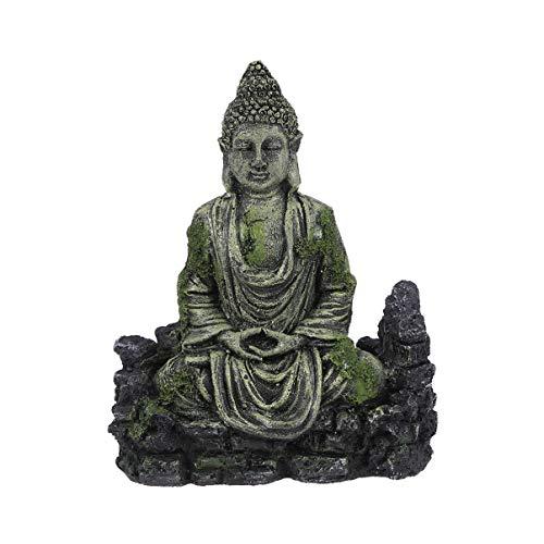 Balacoo Acuario decoración de Buda Resina decoración de Acuario Ornamento Acuario Estatua Buda Reptiles Tanque Adorno