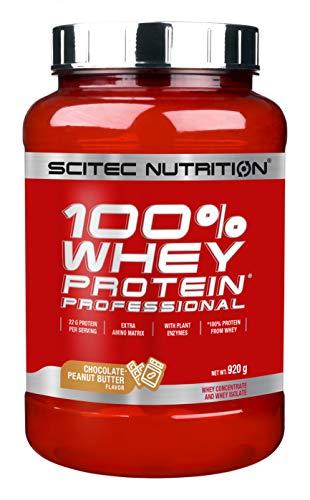 Scitec Nutrition Protein 100{530f09210420fc78b79dd82ccb9a4fc4be3ade7266b18f98f934016630f38c0b} Whey Protein Professional, Schokolade-Erdnussbutter, 920g