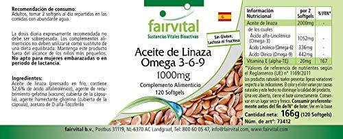 Flachsöl Leinöl Omega-3-6-9, kaltgepresst, reich an Alpha-Linolensäure, 120 Softgels - 4