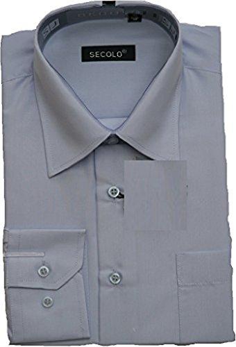 Hemd Business bruiloft shirt pak overhemd (45, lichtblauw)