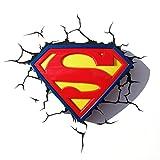 DC Comics Superman Lampe Logo 3D Murale