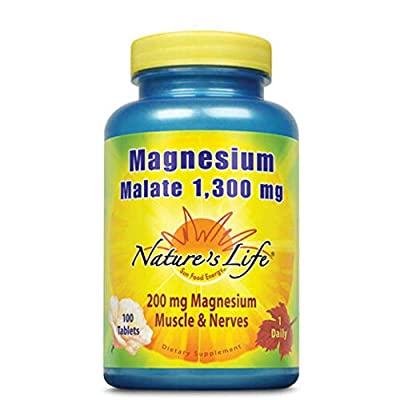 Nature's Life, Magnesium Malate, 1300 mg, 100 Tablets by NATURE'S LIFE