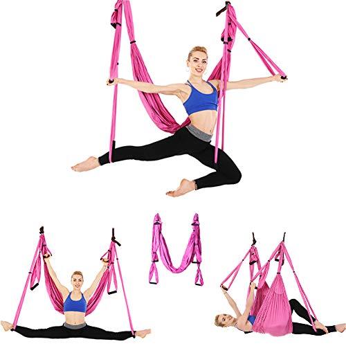 GHH Yoga Aéreo Columpio de Yoga, Tafetán de Nailon Antigravedad Swing Sling Inversión para Colgarse y Aliviar el Dolor de Espalda para Gimnasio hogar