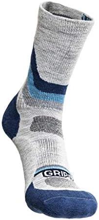GRIP6 Wool Socks Mens Thick Wool Hiking Socks Overland Blue Medium product image