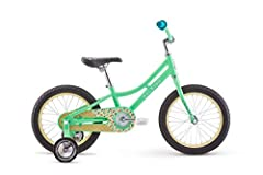 Aluminum frame for lightweight durability; designed to fit ages 3 to 5 or 39 to 45 inches tall 16 inch wheels keep the bike just the right size for young riders Coaster brake makes it easy to learn; simply push the pedals backward to stop Removable t...