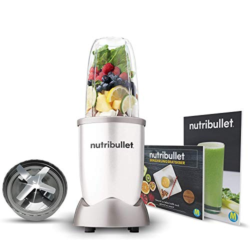 NutriBullet 600W weiß – Mixer mit Extraktor-Klinge macht Superfood aus einfachen Lebensmitteln – Power Standmixer für den täglichen Vitaminkick – 5tlg.