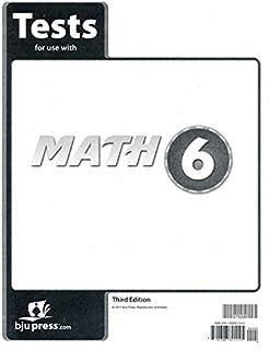 Math 6 Test 3rd Ed