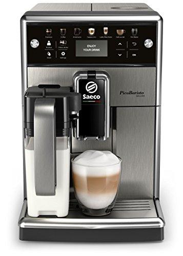 Saeco PicoBaristo Deluxe SM5573/10 Kaffeevollautomat (LED Display, integriertes Milchsystem) edelstahl