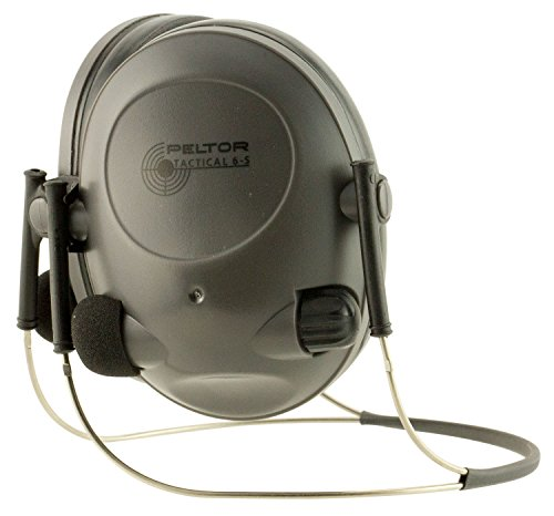 3M Peltor Soundtrap/Tactical 6-S Electronic Headset, Black, one-size, 97043