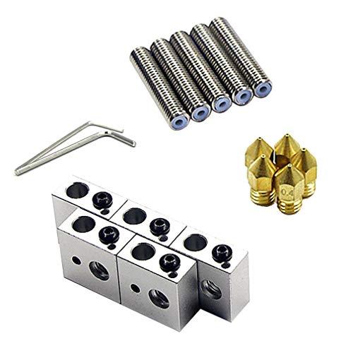 15 stuk/set 1,75 mm extruderpijpafdruk 0,4 mm voor MK8 ANET A8 3D-printer Goud