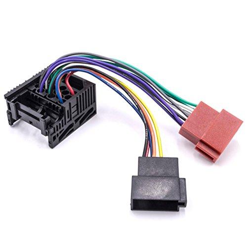 vhbw ISO Adapter Kabel KFZ Auto Radio passend für BMW 3er Compact 03/1994-10/2000, E30 1985-1992, E36 12/1990-03/1998, E46 04/1998-12/2003