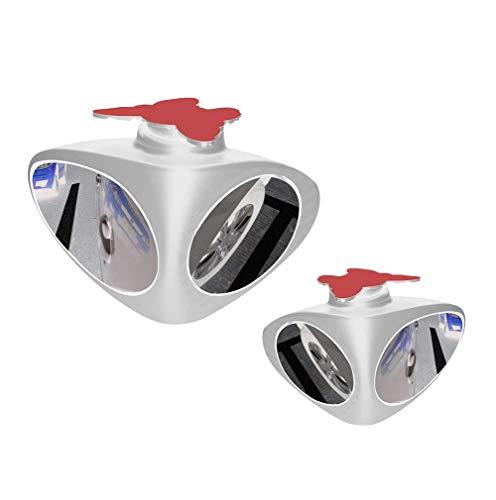 WPFC Car Blind Spot Specchio, 2 in 1 Dual Vision Ausiliario Specchio Specchio Retrovisore Regolabile, Ruotabile di 360 ° Double Sided Convesso Auto Ausiliario Specchio,Bianca