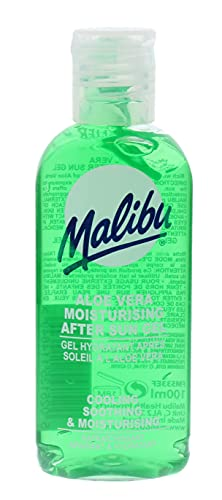 Malibu Cooling and Soothing After-Sun Moisturising Gel, 100ml, Aloe-Vera