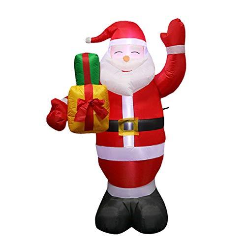 Decoración De Navidad Hinchable Papa Noel Inflable 150 Cm Exterior Inflable Iluminación...