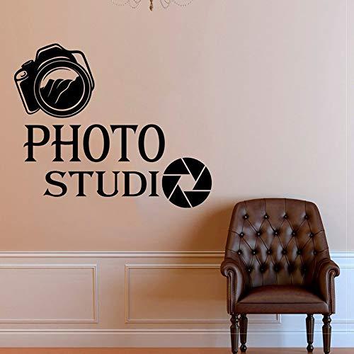 Modern design schat studio camera kunst muurtattoo woondecoratie vinyl sticker interieur kamer verwijderbare muurschildering raam 75x63cm