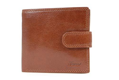 Ashwood Dunne Klassieke Bi-fold Portemonnee & Geschenk Doos - Echt Leer - 3 creditcardvakken en ID vak met venster - 1222 - VT Tan