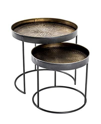 Haku-Möbel 22531 Set of 2 side tables, H: 38/48 cm