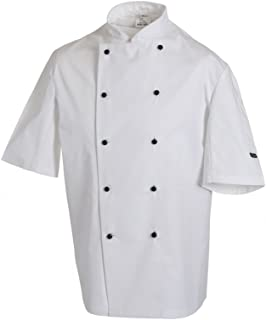 Dennys Short sleeve chefs jacket with removable studs (DE20S)