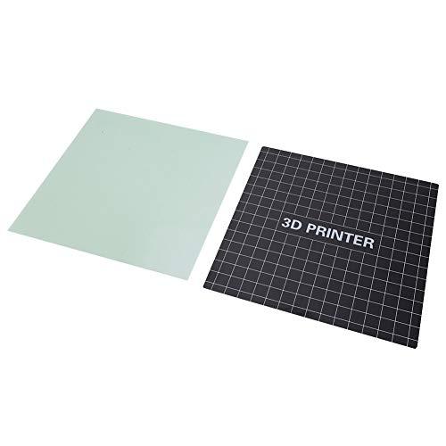 Redxiao 【𝐎𝐟𝐞𝐫𝐭𝐚𝐬 𝐝𝐞 𝐁𝐥𝐚𝐜𝐤 𝐅𝐫𝐢𝐝𝐚𝒚】 Heatbed Build Plate, Impresora 3D Extraíble de Fibra de Vidrio Heatbed Build Plate + Plataforma Adhesiva para Ender-3(1#)