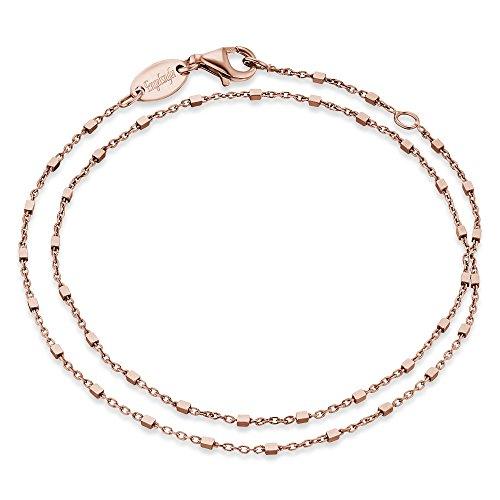 Engelsrufer Damen Armband Little Cube 925er-Sterlingsilber rosévergoldet Länge 32 cm
