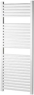 Termotech - Toallero radiador una gran solución decorativa para el cuarto de baño - Modelo Elena - Color blanco - Medidas 120 x 60 cm - 26 tubos de acero horizontales