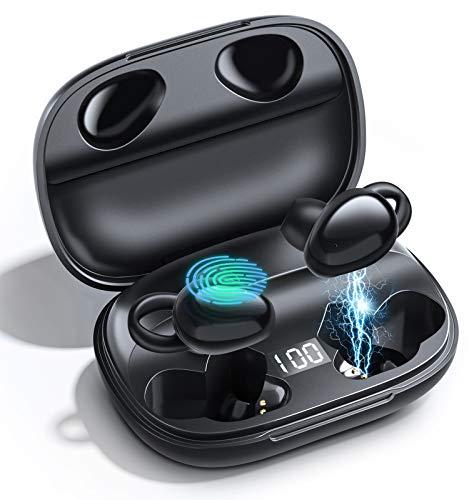 Cuffie  Wireless Bluetooth 5.0, Touch Control, Bassi migliorati, Ricarica rapida