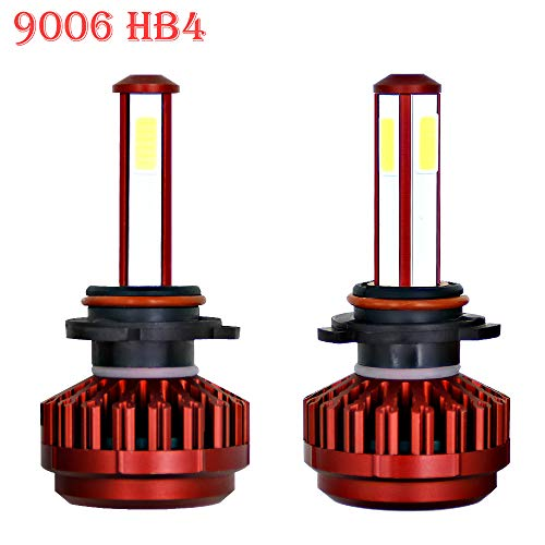 Ricoy garantía de 2 años,9006 HB4 80 W 9600lm LED faro conversión bombilla lámpara de luz Kit Xenon Blanco (Pack de 2)