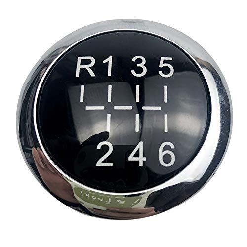 Zqlcc 5/6 Speed / Fit for Opel/Fit for OPEL/Fit for Astra III H/Fit for Corsa D 2005-2010 MT Schaltknauf Emblem-Abzeichen-Kappen-Abdeckung Auto-Styling-Zubehör (Color Name : 6 Speed R123456)