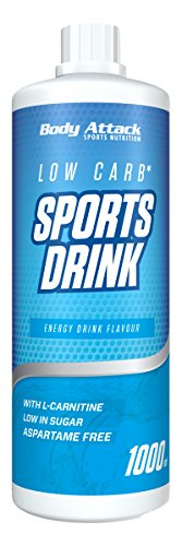 Body Attack Low Carb Sports Drink, Sportgetränkekonzentrat, Energy Drink, (1 x 1000ml)