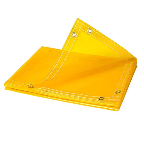 Tillman 601R68 6'X8' 14mil. Yellow Vinyl Welding Curtain w/Grommets all Around