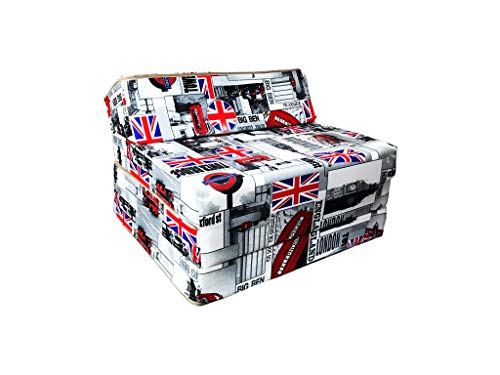 Natalia Spzoo Fold Out Guest Chair Z Bed Futon Sofa for Adult and Kids folding mattress 200 x 70 cm polycotton (London)