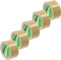ニチバン 布テープ 50mm×25m 5巻パック 12150-5P 黄土