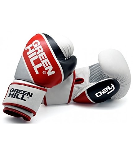 Green Hill Boxing Gloves F120 (White, 12 OZ)