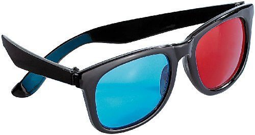 PEARL 3D Brille rot blau: Hochwertige 3D-Brille Rot/Cyan (Anaglyphen-System) (3D Anaglyphenbrillen)