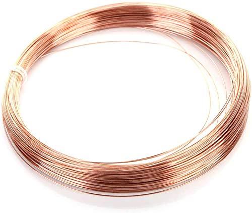 Xiayanmei Massiver blanker Kupferrunddraht hell harten Draht Gewicht 1 kg / 2,2 £ / 35.27OZ die Schmucksachen Drahtspule für Schmuck,Diameter 5mm