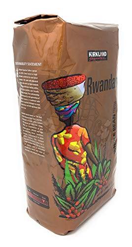 Kirkland Signature Rwandan Whole Bean Dark Roast Coffee, 3 Pound