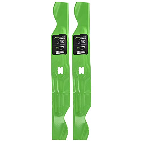8TEN LawnRAZOR Hi Lift Blade for MTD Cub Cadet Troy Bilt 33 inch Deck Walk Behind 742-04154 942-04154A 2 Pack