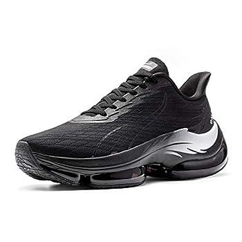 ONEMIX Men s Women s Running Shoes Casual Breathable Sport Shoes Shock Cushioning Sneakers 2020 Black 46EU