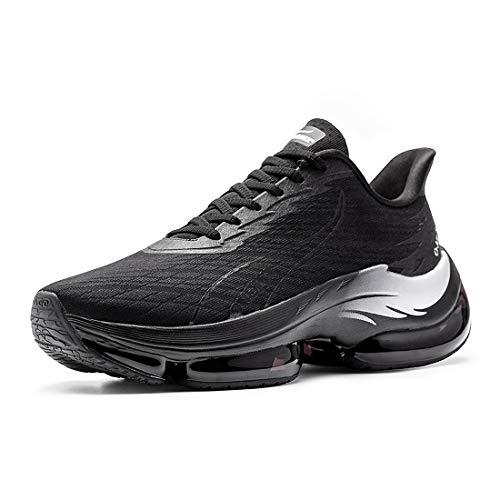 ONEMIX Scarpe da Corsa da Uomo Scarpe da Corsa su Strada Traspiranti per Esterno Scarpe Casual Moda Antiscivolo 2021 Nero 43 Black