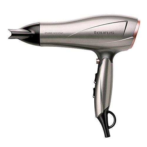 Taurus Studio 2400 - Secador de pelo (2400 W, 3 velocidades 2 temperaturas, golpe de aire frio), color plateado