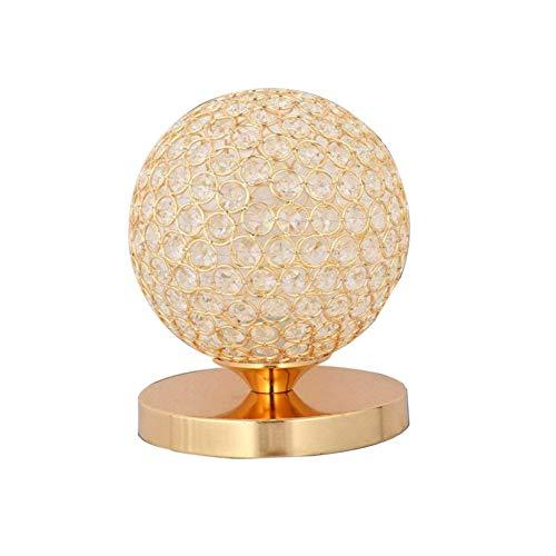 TRADE® Golden K9 Kristall Desktop Lampe Sphärische Dekor Nachttischlampe mit Chrom Finish Base Modern Lese licht Nacht Licht Lampe für Schlafzimmer Wohnzimmer Esszimmer