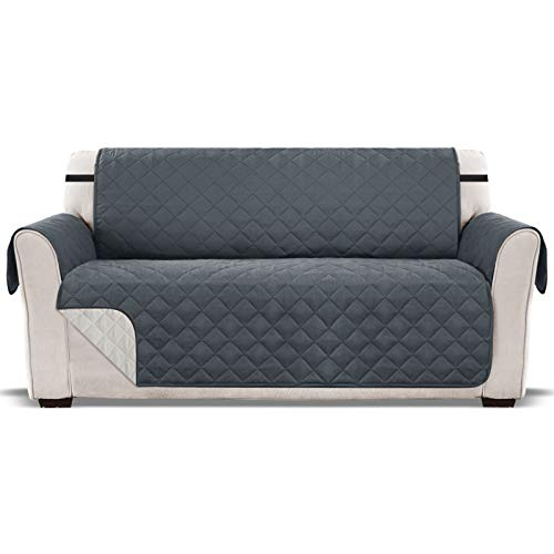 Sofa covers 2 seater, Arm chair cover, chair Protector, sofa protectors from pets, sofa covers for dogs, armchair covers, recliner covers, couch sofas pet furniture slip slipcover Grey Two seat