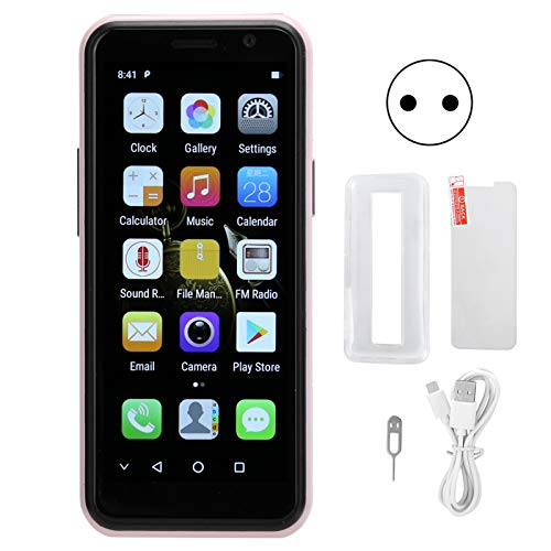 Yctze Teléfono móvil pequeño, Tarjeta Dual Teléfono con Doble Modo de Espera Pantalla LCD de 3.49 Pulgadas Teléfono móvil Soporte Rosa FM /(European regulations)